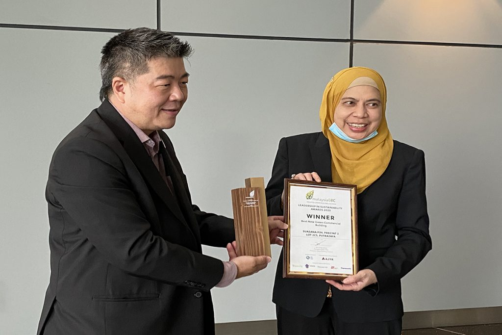 14 September 2020: Putrajaya Holdings Sdn Bhd won the Best New Green Commercial Building for Suasana PJH at MalaysiaGBC Leadership in Sustainability Awards 2020 27