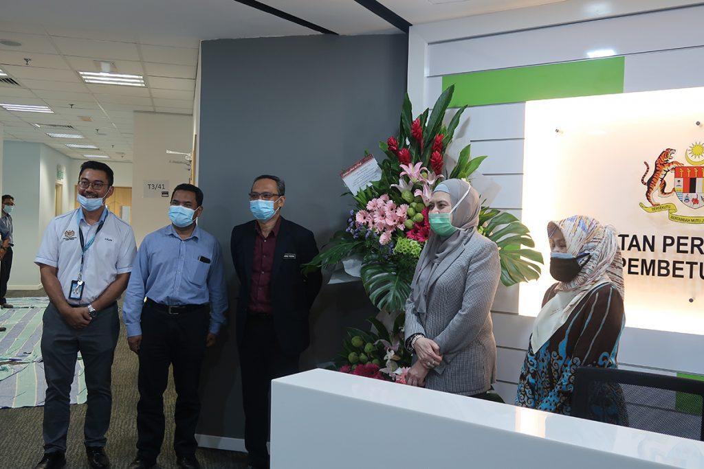 15 October 2020: Handover and welcoming a new tenant, Jabatan Perkhidmatan Pembetungan Kementerian Alam Sekitar dan Air (JPP) to Suasana PJH, Precinct 2. 17